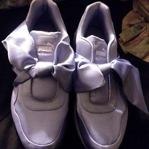 Lavender Fenty Puma Bow Shoes